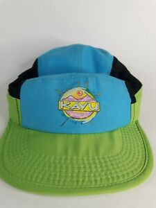 Vintage Kavu Mesh 5 Panel Strapback Hat Running Hat Cap Walking Green Blue Black