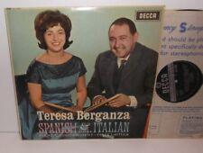 SXL 6005  Spanish & Italian songs Teresa Berganza acc Felix Lavilla Signed ED1
