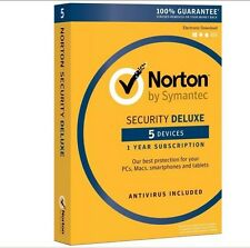 Norton Security Deluxe 2018 5-Devices PC/MAC/Android/iOS