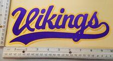 "HUGE MINNESOTA VIKINGS IRON-ON PATCH - 4.5"" x 10"""