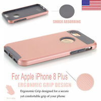 Hybrid Rugged Rubber Hard Slim Shockproof Cover Case For Apple iPhone 8 Plus US