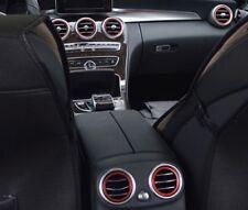 7x Lüftungsringe passend für Mercedes C Klasse W205, GLC X253,+ Hinten Ringe Rot