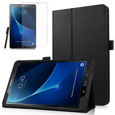 Samsung Galaxy Tab A 10.1 T580 585 A6 Leder-Imitat Case Etui+Pen+Folie Schwarz-2