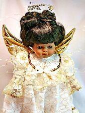 """Goebel Carol Anne Bette Ball LE 1000 AA Angel Gloria 12"""" Musical Porcelain Doll"""
