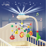 Baby Musical Crib Mobile Bed Bell Toys Plastic Hanging Rattles Toy Newborn Infan