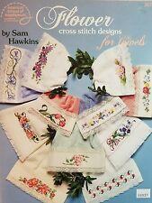 American School of Needlework X- Stitch Chart: Flowers for Towels by Sam Hawkins