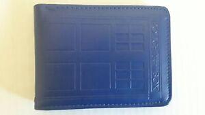 Dr Who Embossed Blue Tardis Wallet ~ Bi-fold