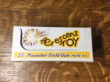 Crescent Toy 25-Pounder Field Gun 1939-45 #1250 In Towing Position