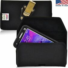 Turtleback Galaxy Note 4 Nylon Pouch Holster Metal Belt Clip for Otterbox Case
