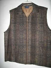 Sunderland of Scotland(Made in Usa)Full Zip Slveless Vest.Lined & Waterproof. Lg