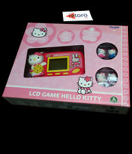 LCD HANDHELD HELLO KITTY + 4 FIGURAS Mod Flores Sanrio License Game & Watch NEW
