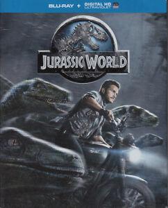 Blu-Ray Film Jurassic World mit Digital HD UV Ultraviolet Code + TOP im SlipCase