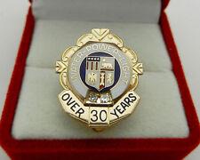 Vtg LA DWP Los Angeles Water Power Light 14k Gold 2 diamonds pin 30 yr service