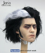 1/6 Hot CUSTOM REHAIR REPAINT toys Sweeney Todd Johnny Depp action figure head