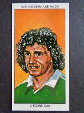 The Sun Soccercards 1978-79 - John Giles - Eire #258
