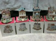 Liberty Falls Americana Collection Cottages (Set of 4) - Pre-owned