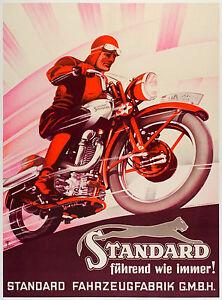 "cafe racer canvas print  vintage art wall decor motor bike 28"" standard"