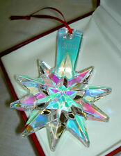 BACCARAT 2013 Iridescent Crystal Star Snowflake Noel Ornament NIB #2804703 $140