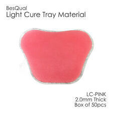 Dental Light Cure Custom Tray Material Box of 50pcs Pink 2mm Thickness