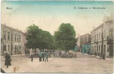 Ukraine, Poland, Stryj, Ul Kolejowa, Bahnstrasse, Street Scene, Old Postcard