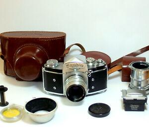 35mm Fotoapparat SLR-Kamera Ihagee Exakta Varex camera Tessar 2/50, 1953