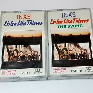 INXS LISTEN LIKE THIEVES PART 1 & 2 THOMSUN IMPORT 2 x CASSETTE TAPE ALBUM 80S