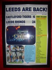 Castleford Tigers 6 Leeds Rhinos 24 - 2017 Grand Final - framed print