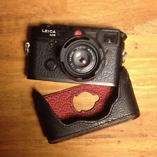 Kenji Leather Custom Half Case for Leica M3 M4 MP M6 NEW Italian Leather