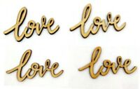 Wedding/Party Table Confetti/Decorations Vintage Wooden love 55mmx32mm Craft