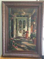 Listed Artist Max Gestel Large Oil On Canvas, Impressionist, Signed Framed