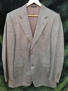 CANALI SINGLE-BREASTED SILK/LINEN/WOOL JACKET SIZE EUR 50 UK 40 - MADE IN ITALY