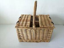 Vintage Wicker Basket Wine Bottle Carrier