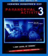 Paranormal Activity 3 (Blu-ray/DVD, 2012, 2-Disc Set, Rated/Unrated Includes Dig