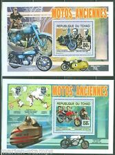 CHAD 2014 MOTORCYCLES HARLEY DAVIDSON & DUCATI BROTHERS  SET S/SHEETS  MINT NH