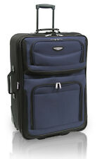 "Travel Select Blue Amsterdam 25"" Expandable Rolling Luggage Suitcase Travel Bag"