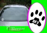 Hundepfoten Hundepfote pfoten 2x Name 10x10cm aufkleber sticker Hund hunde auto