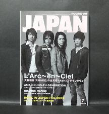 Japan 『ROCKIN'ON JAPAN  July/2005』 L'Arc〜en〜Ciel HYDE TETSU KEN YUKIHIRO