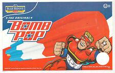 Blue Bunny Bomb Pop Original (Blue,Red Background),Ice Cream Truck Decal/Sticker