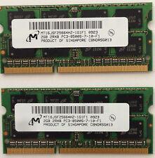 4GB 2 2GB PC3-8500 Laptop Memory RAM DDR3 Acer Apple Dell HP Lenovo Toshiba