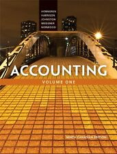 Accounting, Volume 1, Ninth Canadian Edition (9th