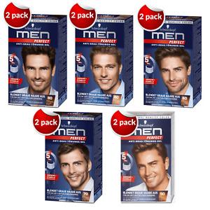 2 Pack MEN PERFECT SCHWARZKOPF Hair Gel Color Professional 60 80 50 90 70 Anti