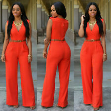 Hot Women Ladies Clubwear V Neck Playsuit Bodycon Party Jumpsuit Romper Trousers