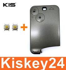 2T Schlüsselkarte Gehäuse Schlüssel für Renault Megane Scenic Laguna +2xTaster