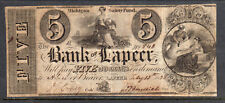 1838 US Obsolete Currency The Bank of Lapeer, MI - $5 Five Dollars, Circulated*