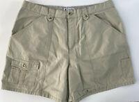 Columbia Women's Beige Khaki Sport Active Hiking Shorts Size 16