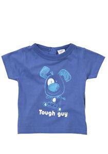 BNWT, Short Sleeve, T-shirt, Tough Guy, Blue, Baby, Size 00, 3-6 Months