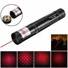Waterproof 5mw 650nm 8000M Red Laser Pointer Light Pen Lazer Beam & A Star Cap
