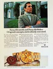 1986 Rolex Watch Frederick Forsyth Day of the Jackal  Photo Print AD Oyster VTG