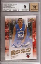 2008 Upper Deck First Edition Derrick Rose RC On Card Auto # 04/05 BGS 9 10 Auto