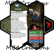 Heroscape Custom DC Bane Figure With Double-Sided Card!